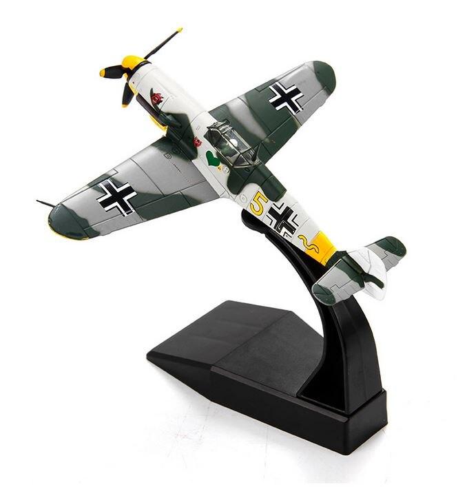 1:72 Messerschmitt BF109 Fighter WWII Aircraft Model Military Ornaments Me-109