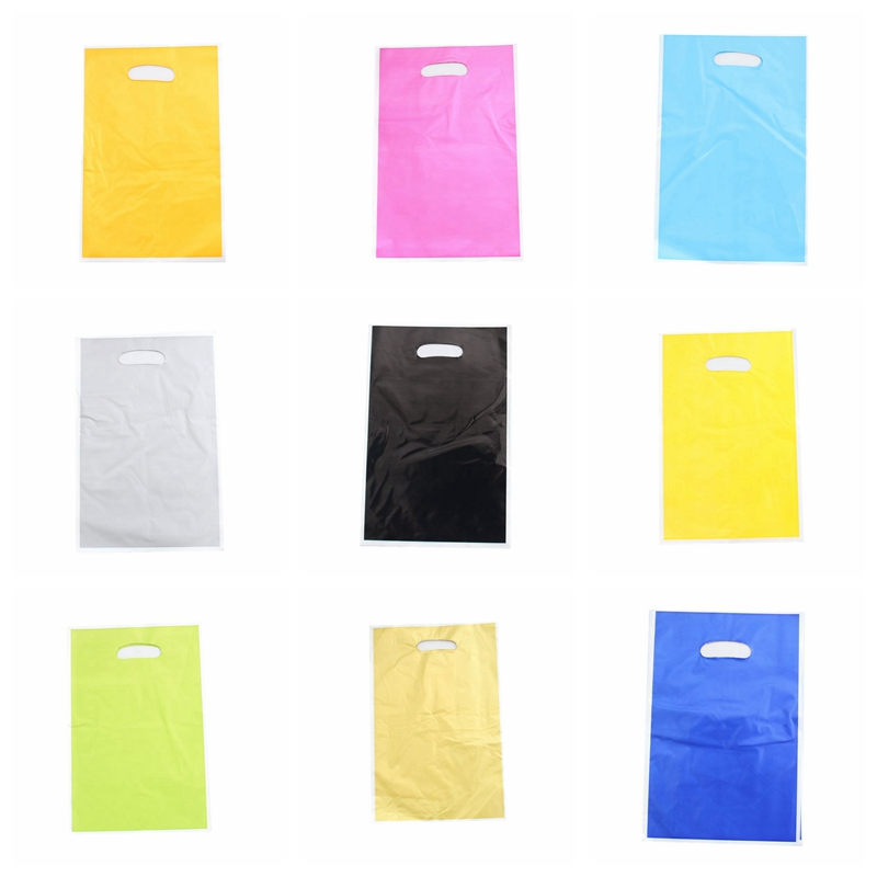 50pcs/set Solid Color Gift Bags Kids Baby Boy Girl Birthday Party Child Candy Dessert Wedding Decoration Supplies Loot Bag