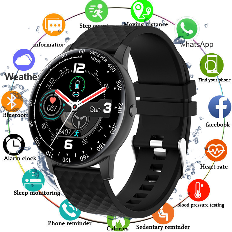 Full Touch Watch Smart Watch Men Blood Pressure IP68 Waterproof Smartwatch 2020 Fitness Tracker Watches Women For Android IOS|Smart Watches|   - AliExpress