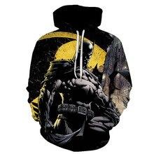 3D Hoodie Print Dark Knight Batman Cosplay Costume Unisex Sports Mens Top
