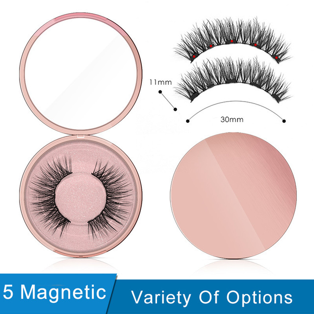 Magnetic Eyeliner Eyelashes Set Natural Thick Handmade No Glue Prevent Allergy Magnetic Fake Eyelashes With Eyelashes Applicator 1
