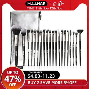Image 1 - MAANGE Pro 5 20Pcs Makeup Brushes Set Multifunctional Brush Powder Eyeshadow Make Up Brush With Portable PU Case Beauty Tools