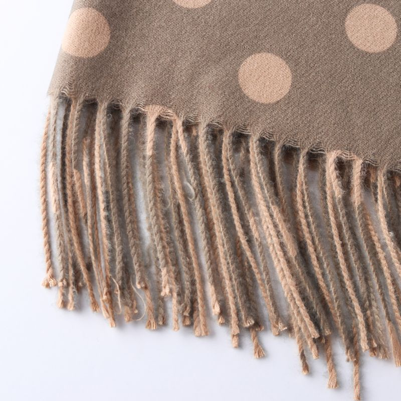 Dot Pattern Winter Warm Cashmere Scarves women 2019 New ladies Shawls and Wrap Brand Designer Pashmina Thick Capes Femme foulard in Women 39 s Scarves from Apparel Accessories