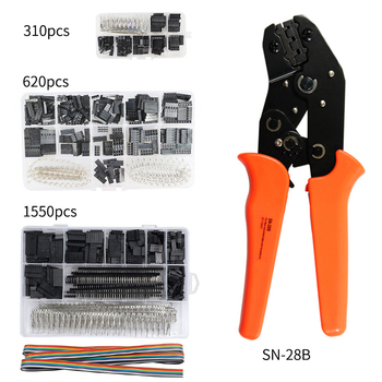 SN-28B 310PCS/620PCS/1550PCS Dupont Crimping Tool Kit Jst Xh Crimp Pliers Terminal Ferrule Crimper Wire Hand Tool Set