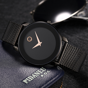 Image 1 - MISSFOX 40mm 미니멀리스트 시계 여성 5.8mm 울트라 얇은 케이스 스틸 메쉬 dw 시계 클래식 방수 골드 아날로그 여성용 쿼츠 시계