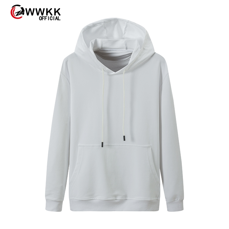WWKK 2020 Autumn And Winter Brand Sweatshirts Men High Quality Brand Solid Color Fashion Mens Hoodies Thickened Men's Hoodie