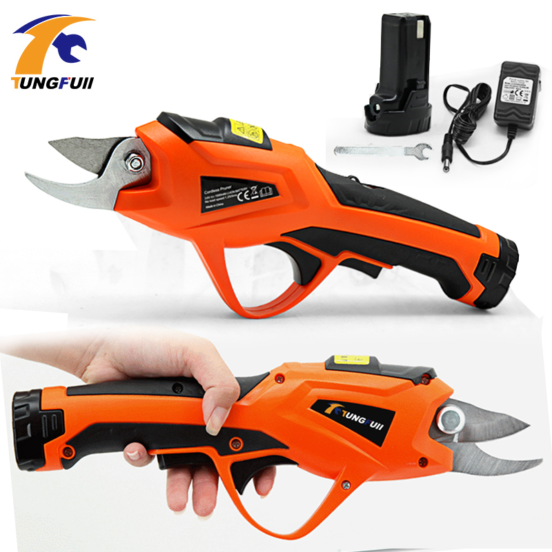 3.6V Li-ion Battery Cordless Secateur Power Tools Pruning Shears  Garden Pruning Tools Cutter Electric Fruit Pruning Tool