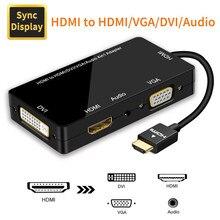 HDMI Adapter HDMI naar VGA DVI HDMI Synchrone Display 1080P 4 in 1 Video Audio HDMI Converter