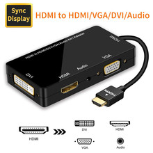 HDMI アダプタ HDMI VGA 、 DVI 、 HDMI 同期表示 1080 1080P 4 で 1 ビデオオーディオ HDMI コンバータ