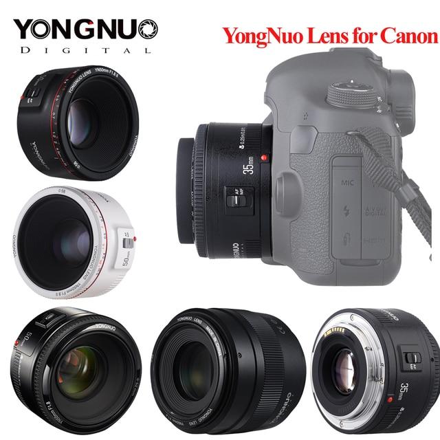Yongnuo YN35mm F2.0 עדשה עבור Canon 600d 60d 5DII 5D 500D 400D 650D 600D 450D YN50mm f1.8 עדשה עבור Canon EOS 60D 70D 5D2 5D3 600D