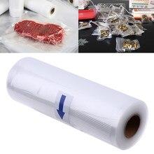 Saco a vácuo para armazenamento de alimentos, saco de cozinha para armazenamento de alimentos à vácuo, resistente ao calor e ao gelo, embalagem para manter alimento fresco, 1 rolo