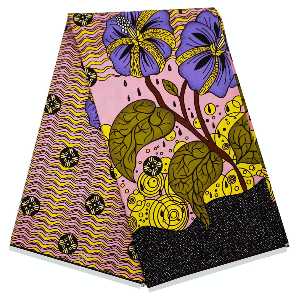 New Ankara wrapper Dutch African Wax Prints Fabric wax printed pattern 100 cotton in Fabric from Home Garden