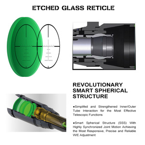 Image 5 - ohhunt LR 7.25 40X50 SFIR Hunting Scope Glass Etched Reticle Red Illumination Side Parallax Turret Lock Reset Riflescope