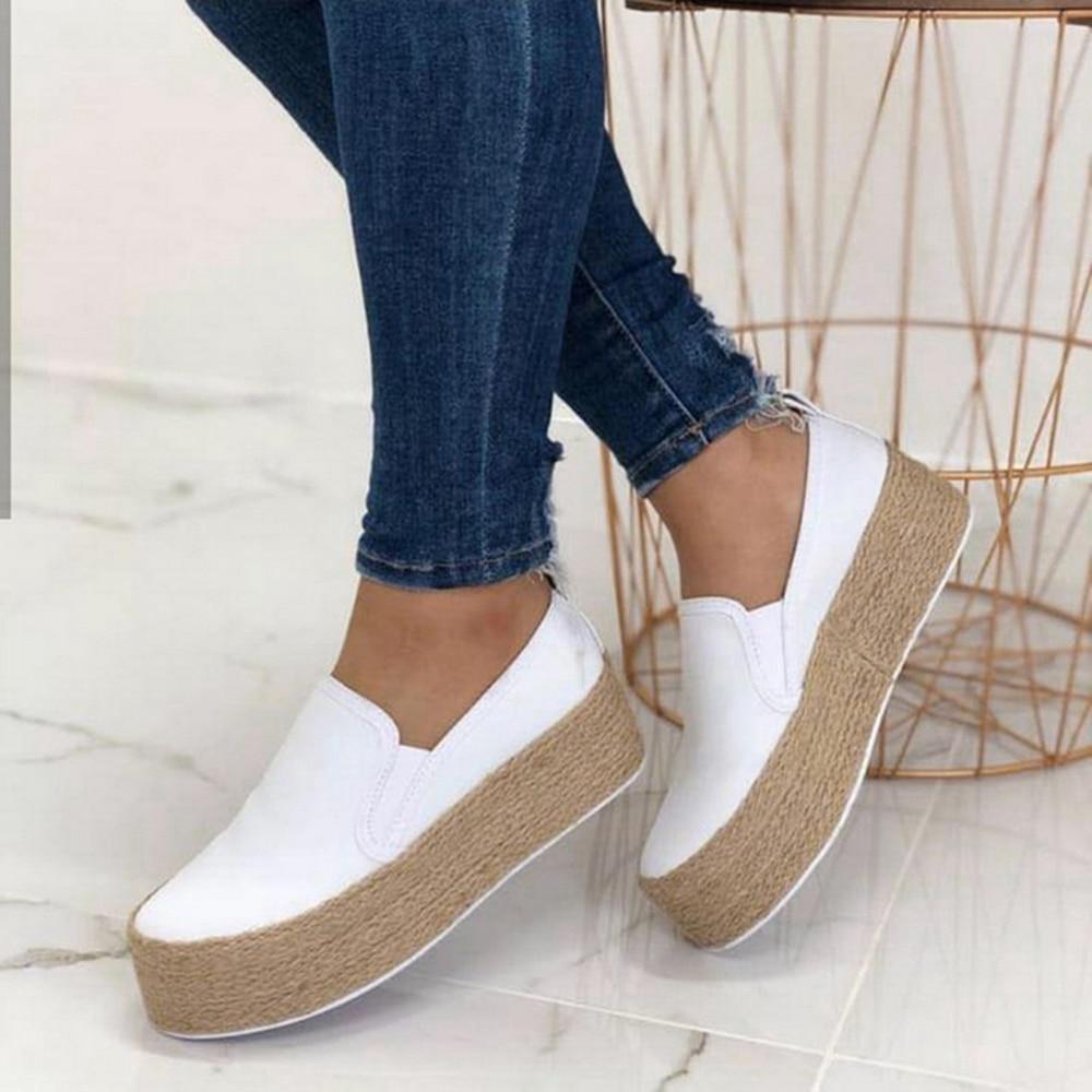 Dihope White Sneakers Shoes Women Flat