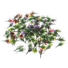 Новинка 100 шт 1:100 хо масштаб Цветок Трава смешанные цвета