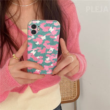 Relief Cute Flower Phone Case For iphone 12 mini 11 Pro Max 7 8 plus X XR XS Max Back Cover For iphone SE 2020 12 Pro Soft Cases