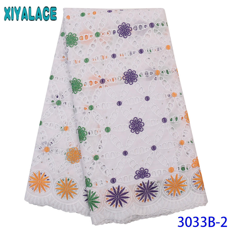 White African Lace Fabric 2019 High Quality Lace Dry Lace Dubai Fabric Embroidered Laces With Stones For Dresses KS3033B