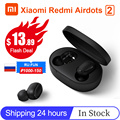 Xiaomi Redmi AirDots 2 TWS Drahtlose Bluetooth 5,0 Lade Kopfhörer In-Ohr stereo bass Mit Mic Ture Drahtlose Ohrhörer AI Control