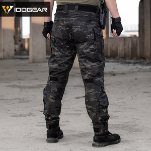 Image 3 - IDOGEAR Tactical G3 Pants with Knee Pads Airsoft Trousers MultiCam CP gen3 Hunting Camouflage black 3201