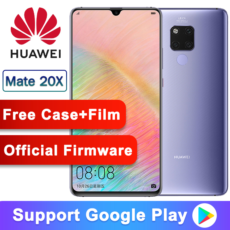 Original Huawei Mate 20 X Smartphone 7.2 Inch Full Screen 2244x1080 Kirin 980 Octa Core EMUI 9.0 5000 MAh 4*Camera Quick Charger