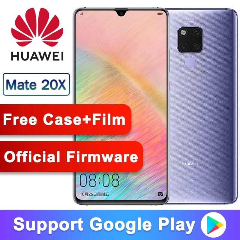 Original Huawei Mate 20 X Smartphone 7.2 Inch Full Screen 2244x1080 Kirin 980 Octa Core EMUI 9.0 5000 MAh 4*Camera Quick Charger