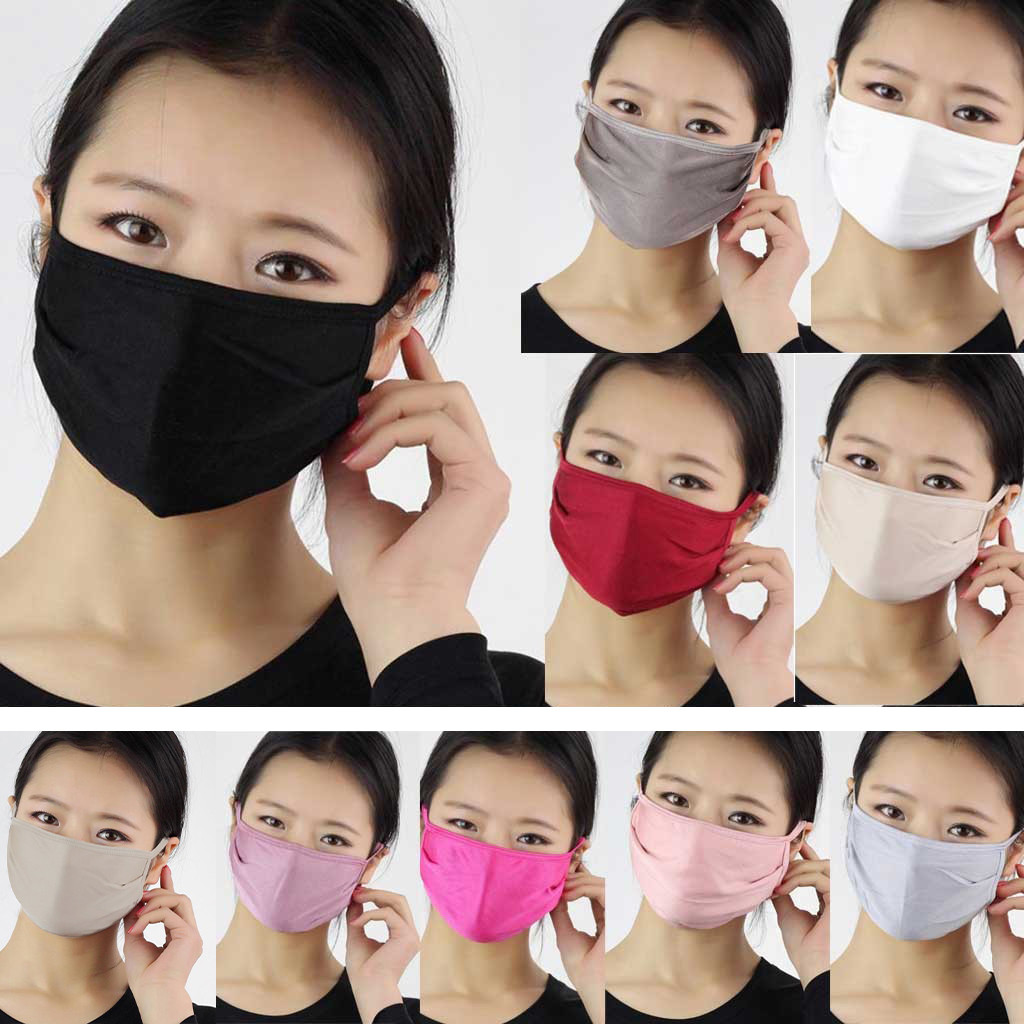 Reusable Silk Mask 2 Layer Protective Mask Washable Filter PM2.5 Air Filtration Cover Dust-proof Anti-fog Used With Mask Gasket%