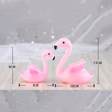 3D Sitting Position Pink Flamingo Cake Topper For Wedding Birthday Party Baby Shower