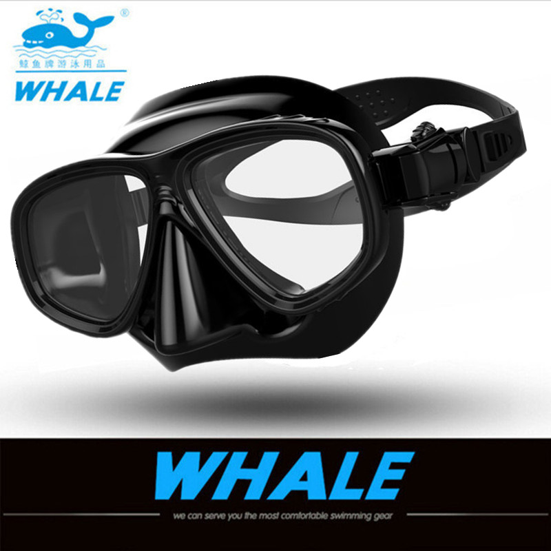 Whale High Quality Brand Diving Equipment Swimming Diving Mask Goggles Toughened Tempered Glass Spearfishing Scuba Mask 2020