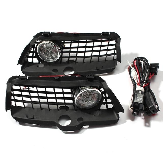 For Vw Mk3 Golf Jetta 1992-1998 Front Bumper Grille 6000K White Led Drl Driving Fog Light Car Accessories