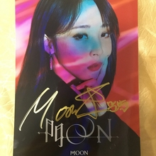 hand signed MAMAMOO Moon Byul E autographed photo 5*7 autographs in ink 082020