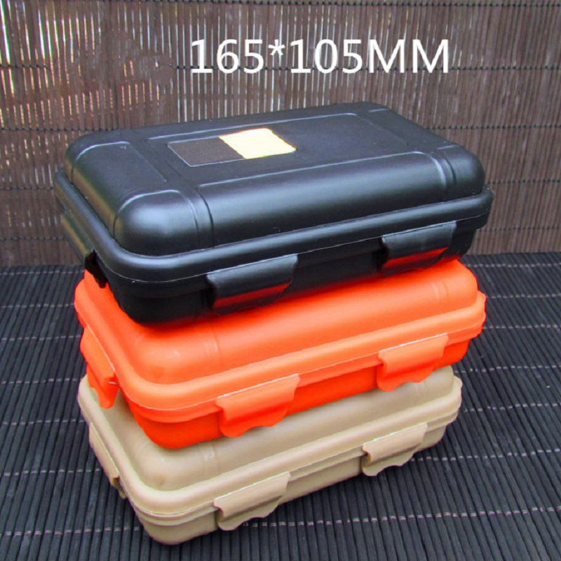 Mini Outdoor Shockproof Waterproof Tool Box Tactical ABS Hard Box With Padded Foam Lining Carry Boxs Survival Case Container