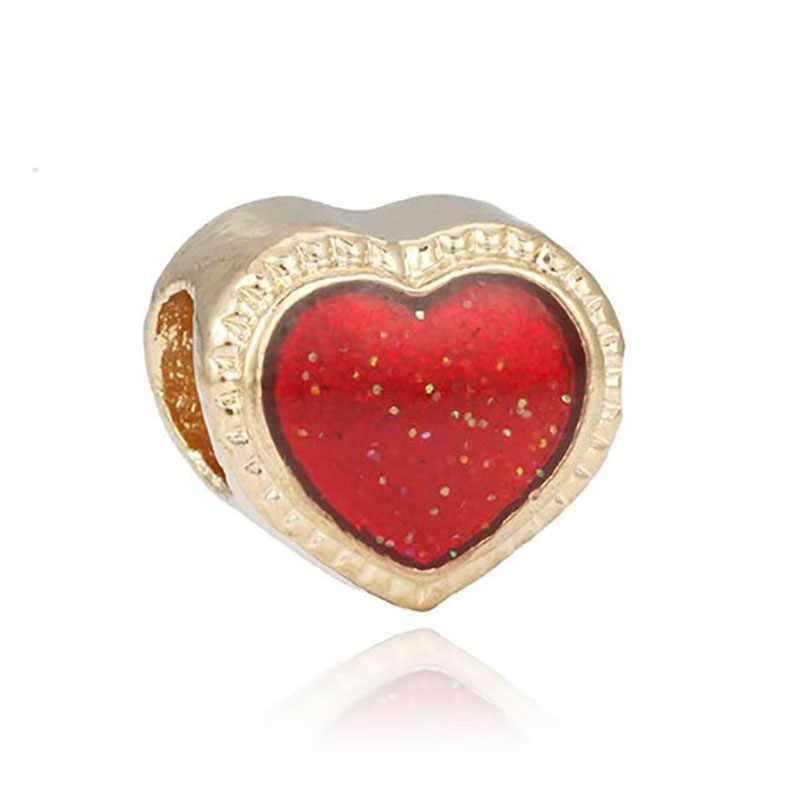 Fit Pandora złote serce koraliki biżuteria Bijoux Bracciale bisutería francuski koralik srebrny perfum Mujer oryginały bransoletka Charms