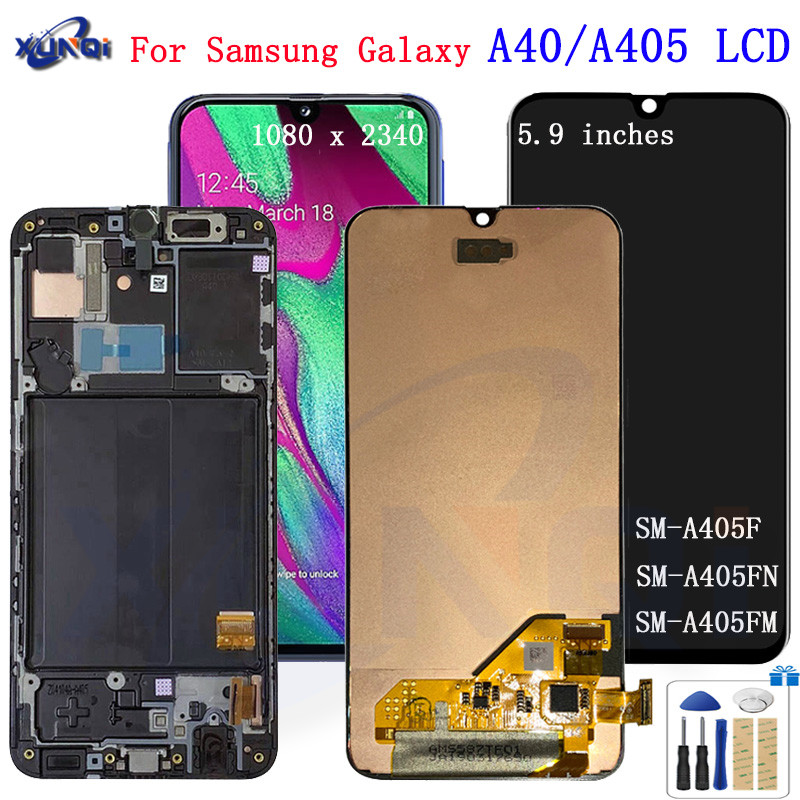 For <font><b>Samsung</b></font> Galaxy <font><b>a40</b></font> A405 <font><b>LCD</b></font> Display Touch Screen Digitizer A405F A405FN Assembly Replacement For <font><b>Samsung</b></font> <font><b>a40</b></font> <font><b>lcd</b></font> display image