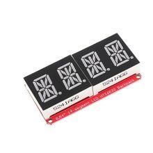 LEORY 5pcs 4 bit Pozidriv 0.54 Inch 14 segment LED Digital Tube Module Red I2C Control 2 line Control LED Display Screen Module