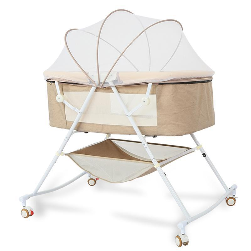 5 In1 Co-Sleeping Cribs  Baby Roller Bed   Rocking Chair  High Quality Kids Bed Splicing Newborn Baby Crib