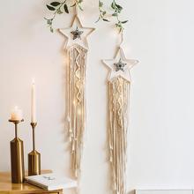 Frigg Star Moon Hand Geweven Tapijt Macrame Muur Opknoping Bohemian Woondecoratie Tenture Murale Tissus Psychedelische Tapestry