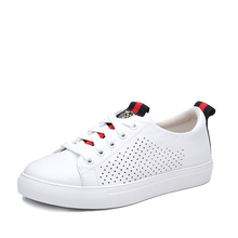 New women's casual white shoes fashion leather women's shoes comfortable breathable sports shoes offwhite shoes