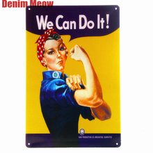 WE Can Do It Vintage Metal Plates Pub Wall Painting Home Decor Bar Tin Signs Sexy Girl Art Poster Beauty Decoration 20*30cm A355