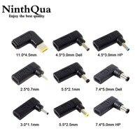 Adaptador de corriente para portátil, convertidor de enchufe de CC, USB tipo C, hembra a macho Universal, para Lenovo, Asus, Notebook
