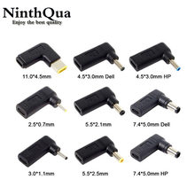 Laptop Power Adapter Connector Dc Plug USB Type C Female to Universal Male Jack Converter for Lenovo for Asus Notebook Charger