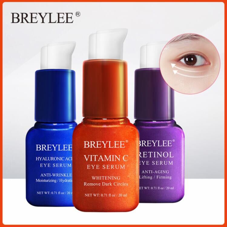 BREYLEE Eye Serum Eye Mask Retinol Hyaluronic Acid Vitamin C Eye Care Cream Skin Care Eye Bags Moisturizing Dark Circles Firming
