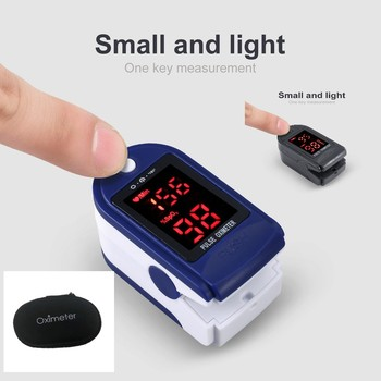 LED Colorful Screen Digital Finger Pulse Oximeter PO2 PR Blood Oxygen Finger Clip Heart Rate Monitor Finger Oximeter Portable image