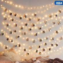 2M/3M/5M/10M Photo Clip LED String Lights Fairy Lights Outdoor Battery Operated Garland Christmas Decoration Party Wedding Xmas led string lights 2m 3m photo clip fairy lights battery operated garland home room christmas decoration party wedding xmas