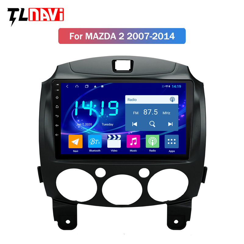 9 INCH IPS 4G+64G Android 9.0 For <font><b>MAZDA</b></font> <font><b>2</b></font> <font><b>Demio</b></font> 2007-2014 GPS Navigation Multimedia Player image