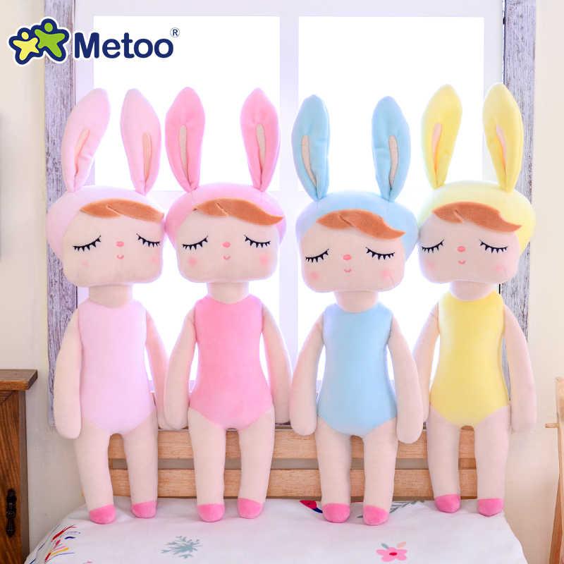 Orijinal Metoo bebek kızlar için doldurulmuş oyuncaklar bebek sevimli tavşan güzel elbise meyve Angela yumuşak hayvanlar çocuklar için bebek