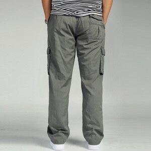 Image 5 - Брюки карго мужские с завышенной талией, эластичные свободные штаны, рабочая одежда, много карманов, модель 6XL, лето