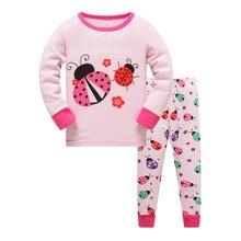 Пижамный комплект для маленьких девочек детская одежда сна брендовая