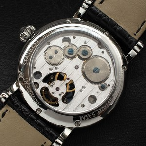 Image 5 - יוקרה עסקי Tourbillon שעונים גברים לוח שנה ספיר חיוג Mens ST8007 Tourbillon מכאני שעוני יד ירח שלב