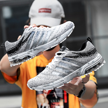 Fashion Men Lightweight Sneakers Running Shoes Outdoor Sports Shoes Breathable Mesh Comfort Running Shoes Air Cushion Lace Up li ning men s light running shoes li ning comfort breathable sneakers urban walk sports shoes acgl005