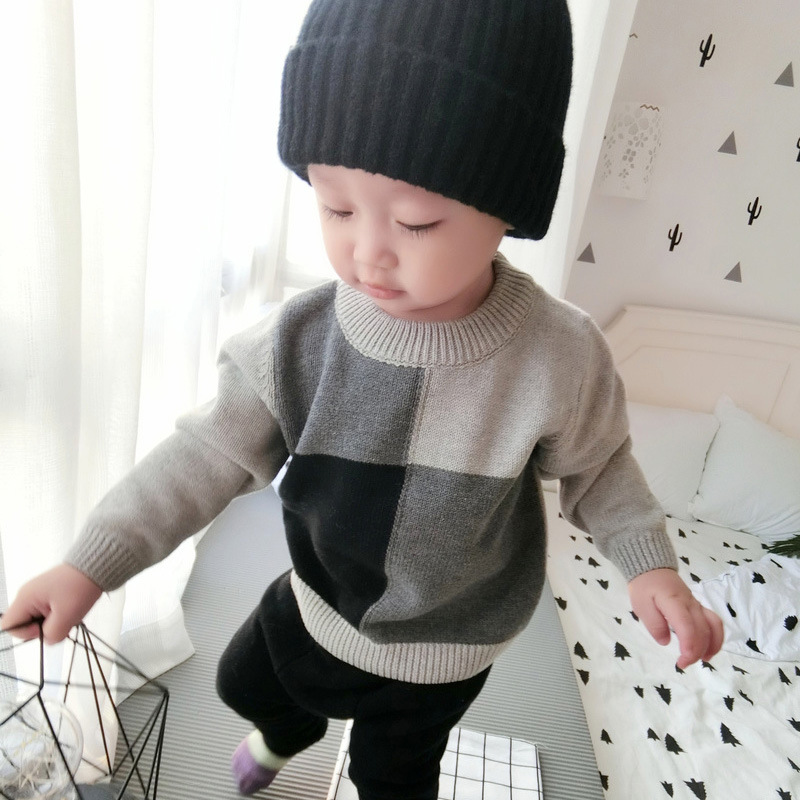 2020 Boys Sweaters Autumn Winter Pattern Knitted Sweater Kids Boy Girl Pullover Sweater Outerwear 1-6years 1